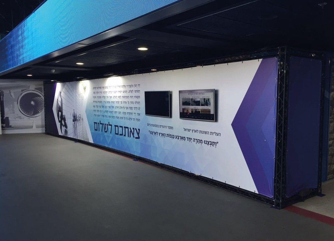 עיצוב שלטים לתערוכה