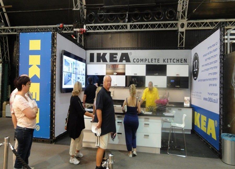 ביתן IKEA - עיצוב ביתנים